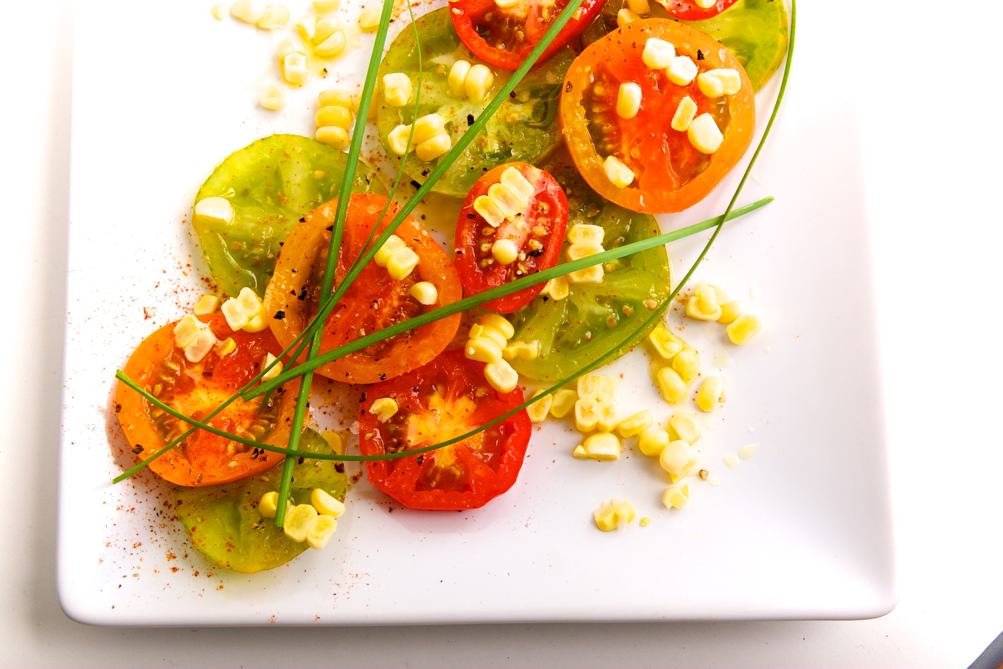 Spicy Heirloom Tomatoes & Sweet Corn