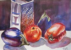Roasted Eggplant, Tomato & Mint Salsa