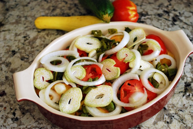 Summer Veggie and Green Chile Casserole