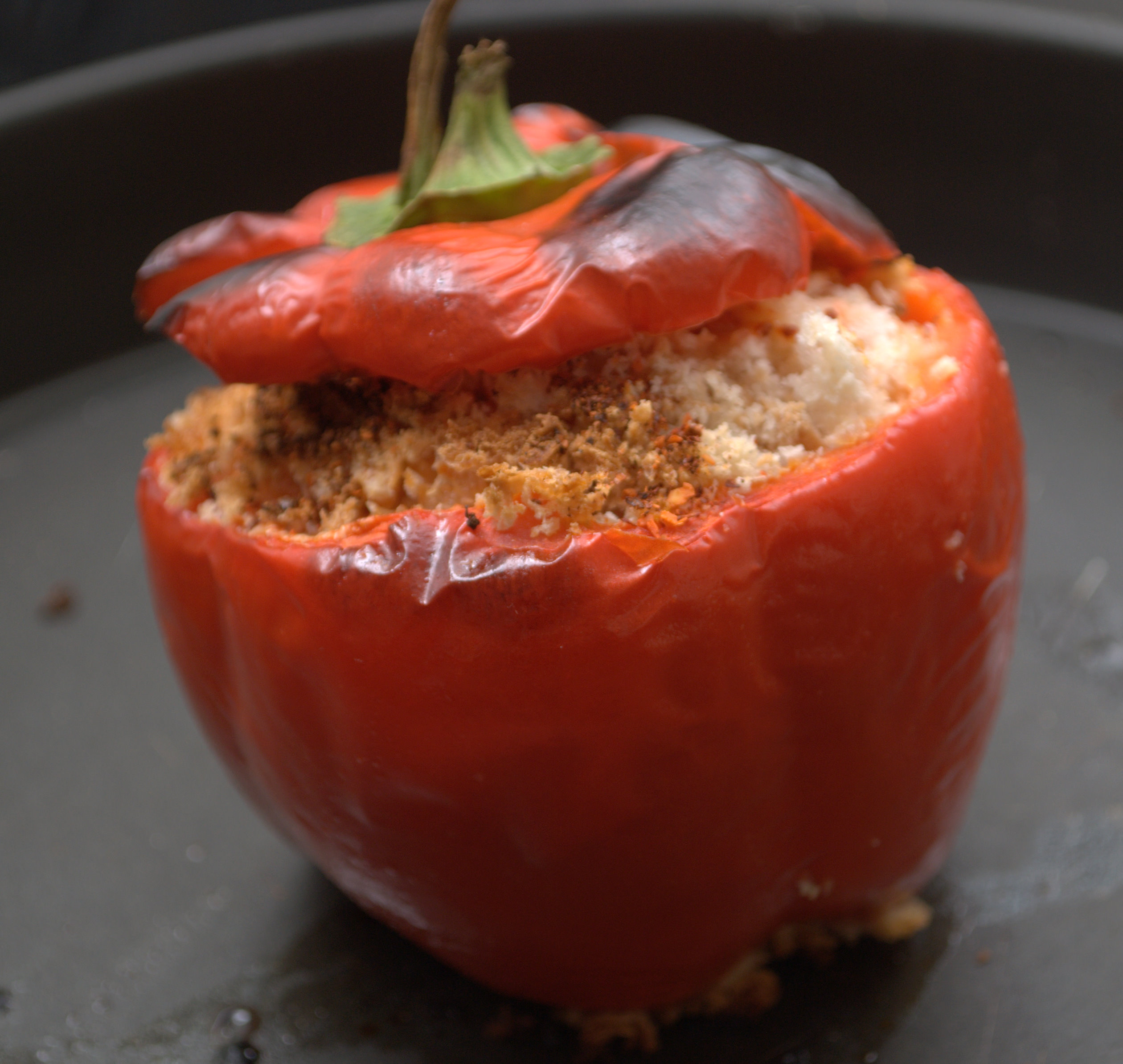 Stuffed Red  Peppers ,Creole.