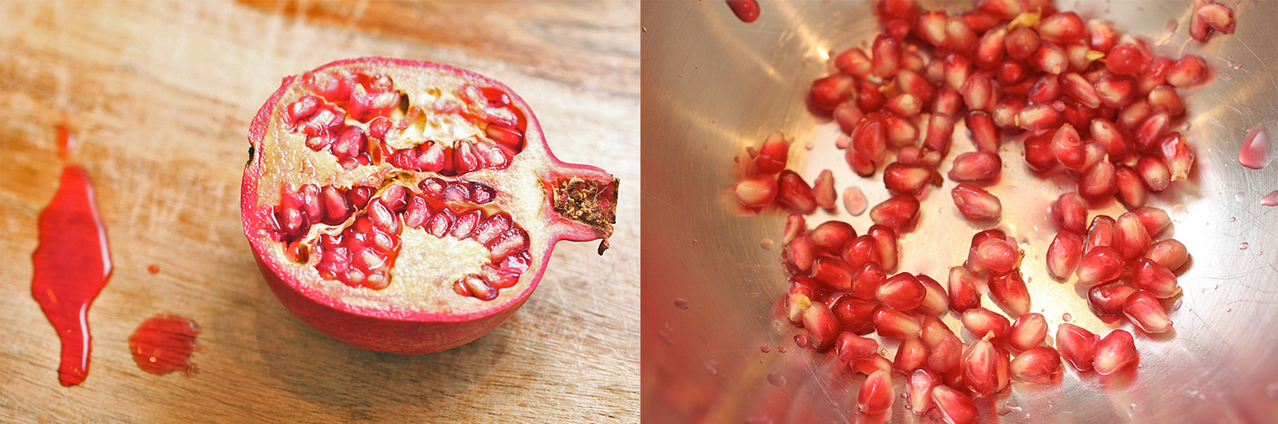 Pomegranate-Rose Milk Pudding