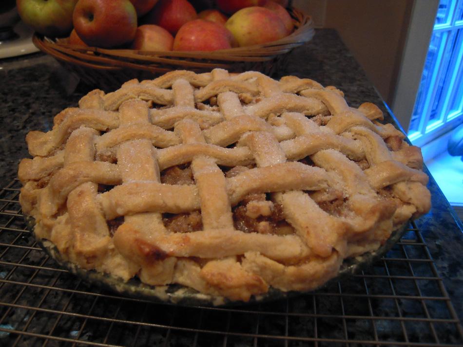 Apple Walnut Custard Pie
