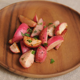 Sauteed Radishes with Mint