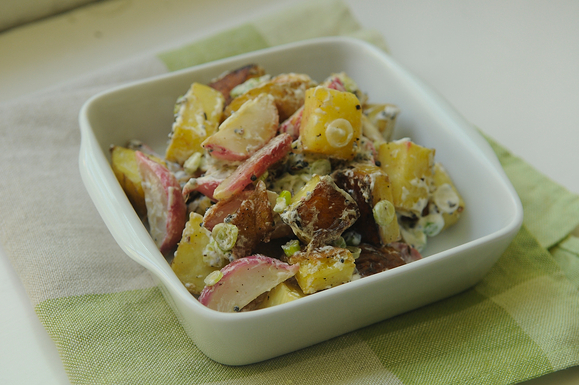 Roasted Radish and Potato Salad with Black Mustard and Cumin Seed