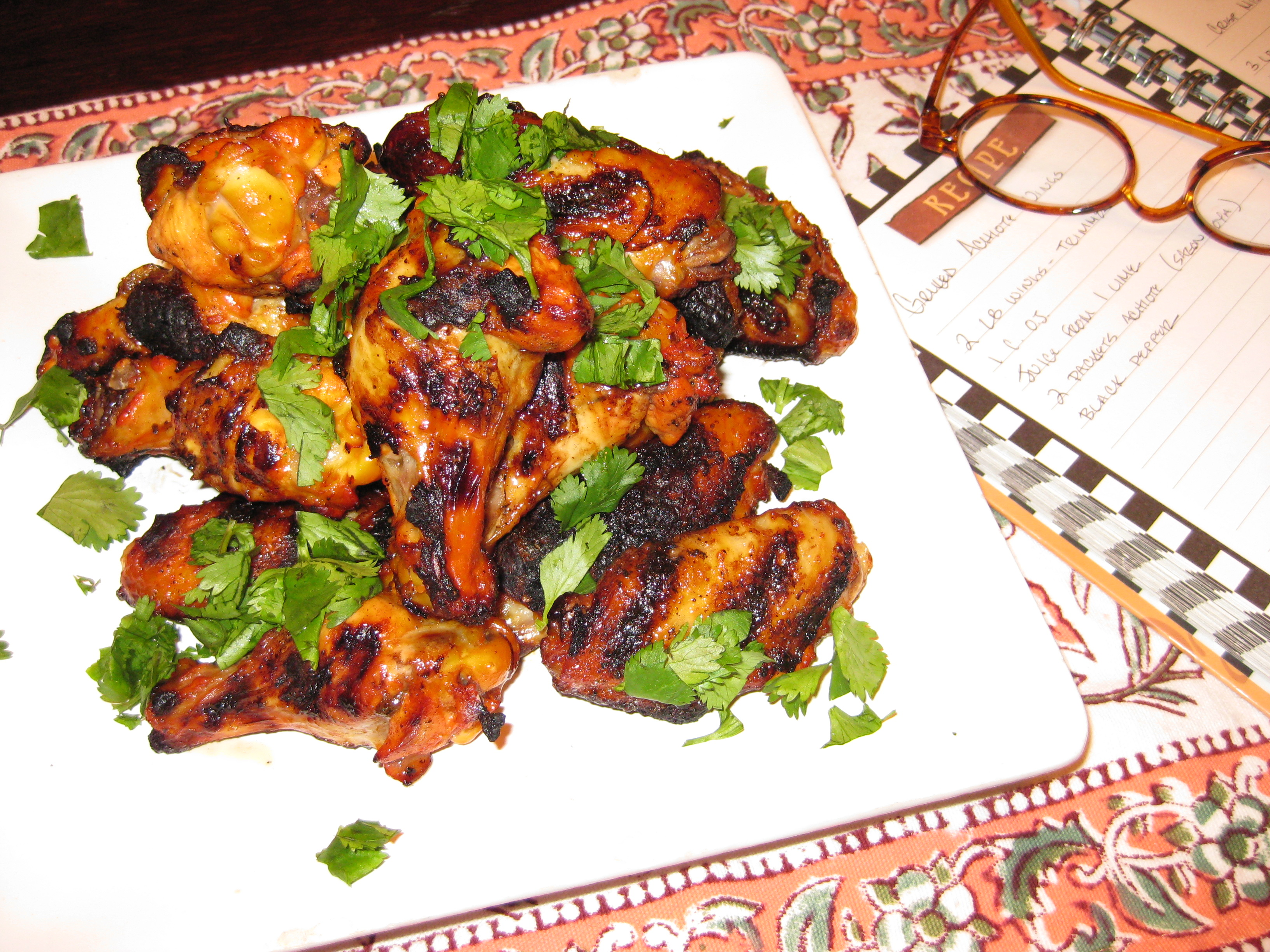 Grilled Achiote Wings