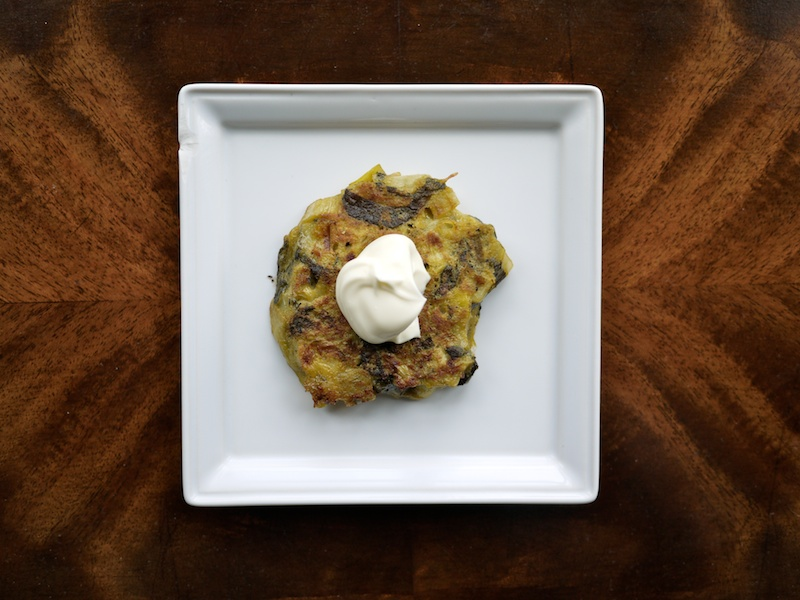 Leek and Sorrel Pancakes