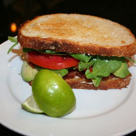 Avocado ~ B.A.T. Bacon, Arugula and Tomato with Lime