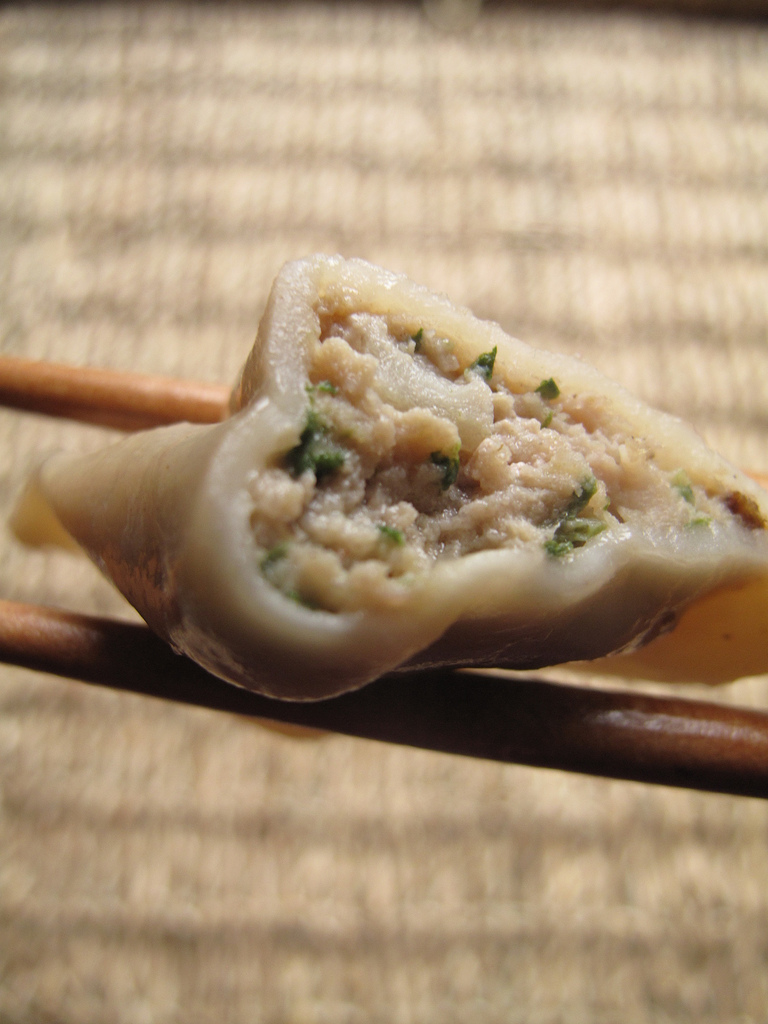 Pork and cilantro dumplings
