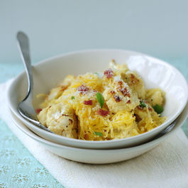Roasted Cauliflower with Spaghetti Squash and Crisp Prosciutto