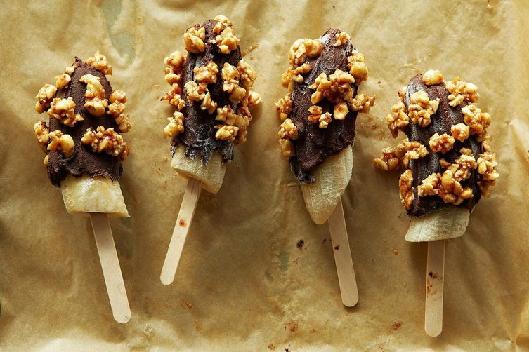 Bean Burrito + Frozen Chocolate-Dipped Bananas