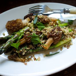 Morels with Asparagus + 5 Reasons to Eschew Recipes