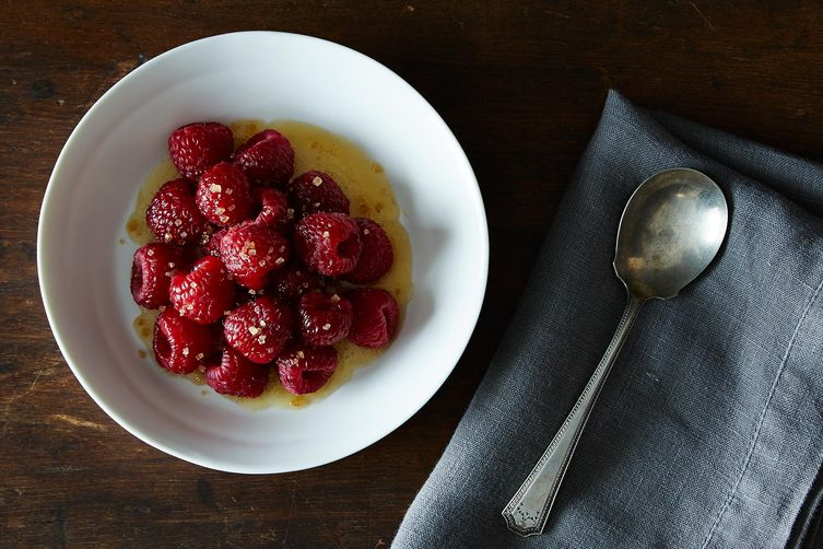 Brown Butter Raspberries