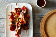 Tempeh Kebabs with Homemade Barbecue Sauce