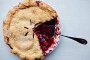 Plum Raspberry Pie (for Breakfast)
