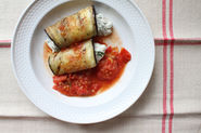 Ricotta-Stuffed Grilled Eggplant with Grilled Tomato Sauce