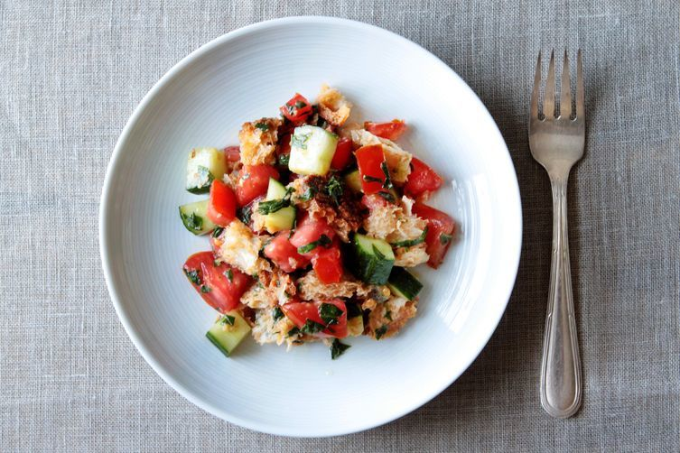 Gazpacho Panzanella + Corn and Barley Salad