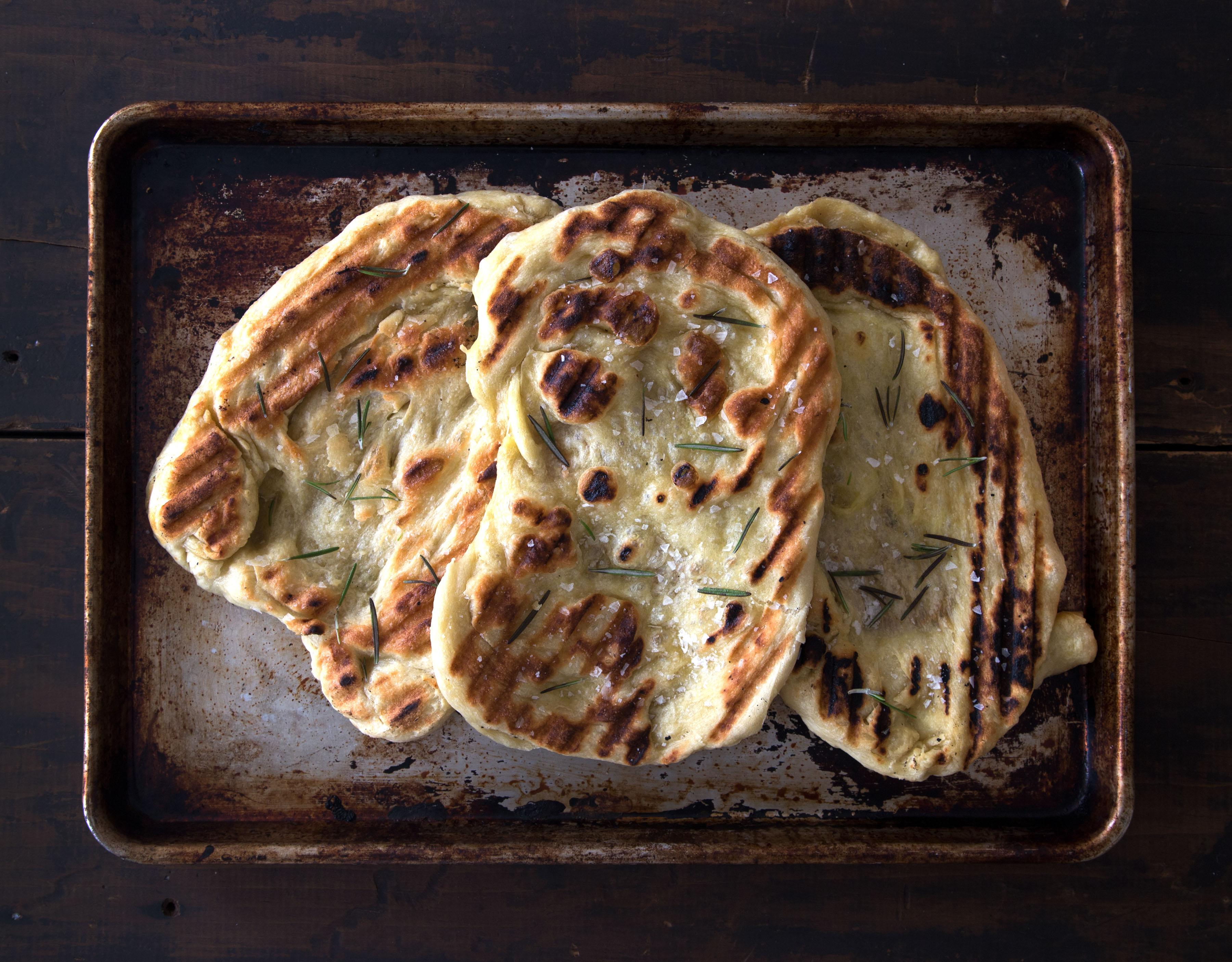 Baking Basics -- How to Make Grilled Flatbread