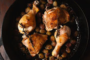 Simple Roasted Grape Chicken + Aperol Spritz