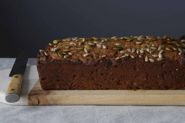 Diana Henry's Date, Apricot, and Walnut Loaf Cake