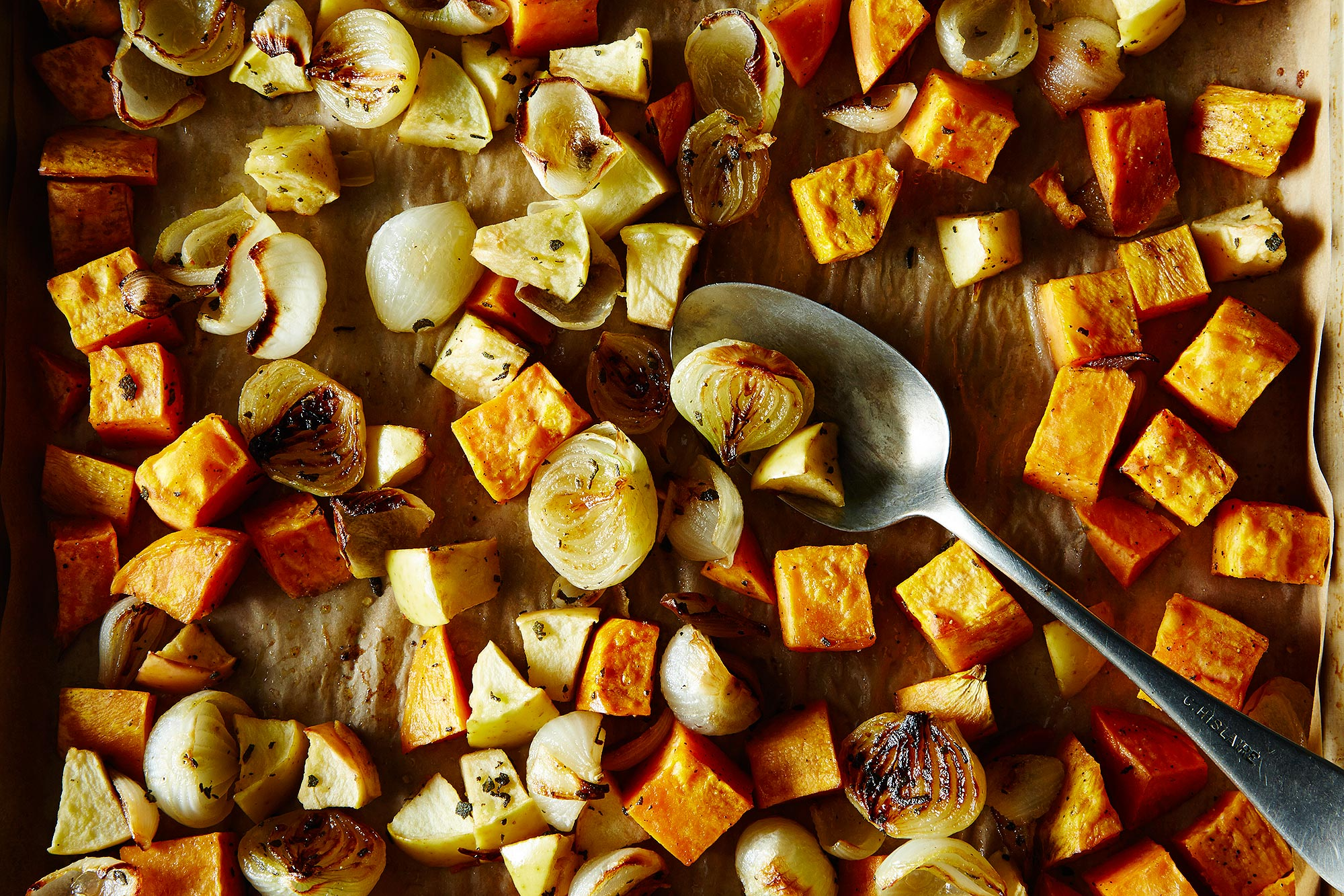 How to Make Roasted Sweet Potatoes, Apples, and Onions