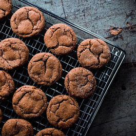 Smoky Cardamom Ginger-Molasses Cookies