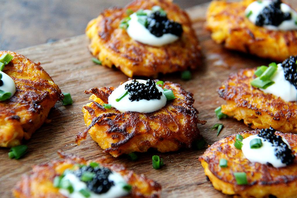 Sweet potato recipes elegant hors d 39 oeuvres for Canape de caviar