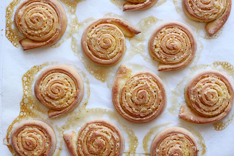 Orange Pinwheel Pastries for Carnival (Arancini di Carnevale)