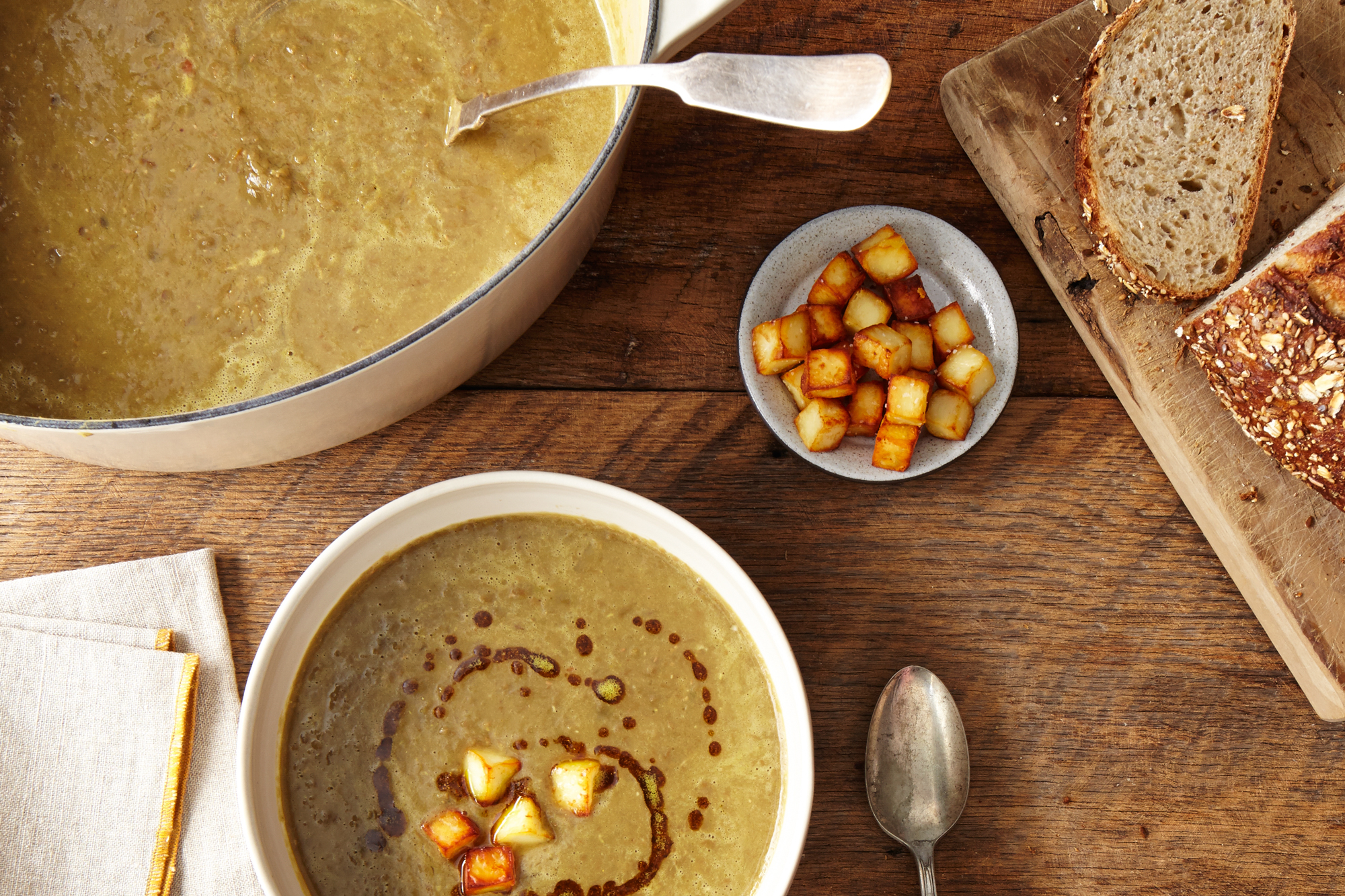 lentil soup from super green lentil soup with curried green lentil