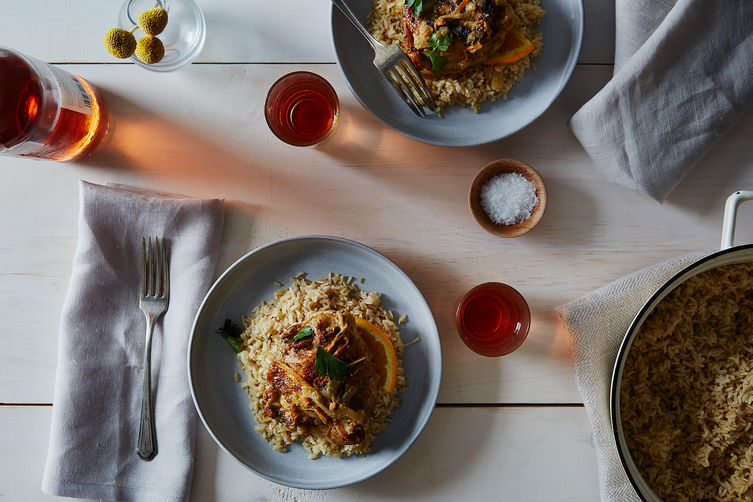 Quick and Spicy Braised Chicken with Rhubarb Recipe