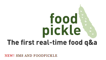 Foodpickle: Now with Texting!