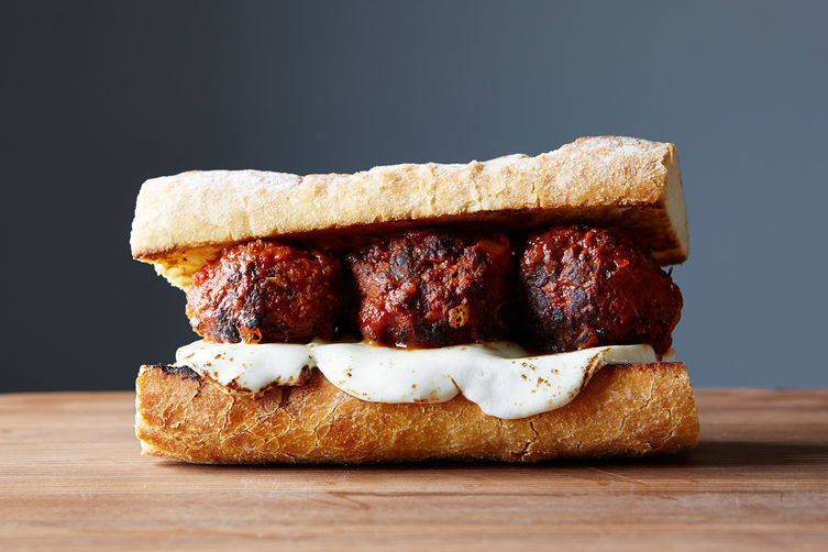 Chicken Meatball Sub + Almond Butter, Dark Chocolate, & Coconut Cookies