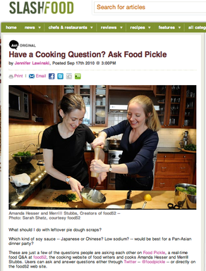 Slashfood | Have a Cooking Question? Ask Food Pickle