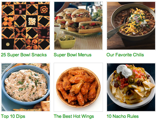 Super Bowl Game Plan from BonAppetit.com