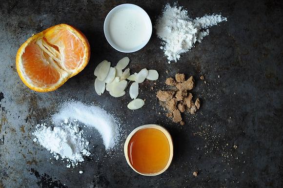 Tangerine and Almond Shortbread Tart