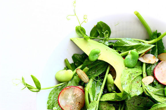 Pea_shoot_salad_with_fava_beans