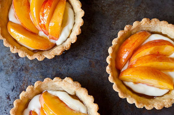 Fresh Peach Tartlets