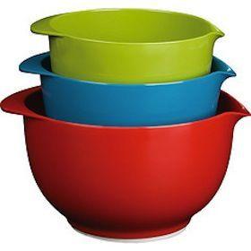 Trudeau Melamine Mixing Bowls