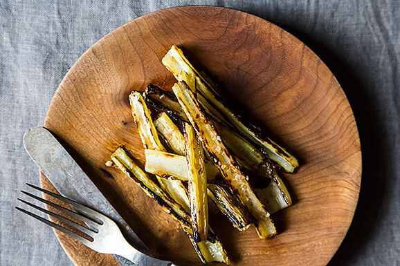 Anna Klinger's Grilled Chard Stems with Anchovy Vinaigrette