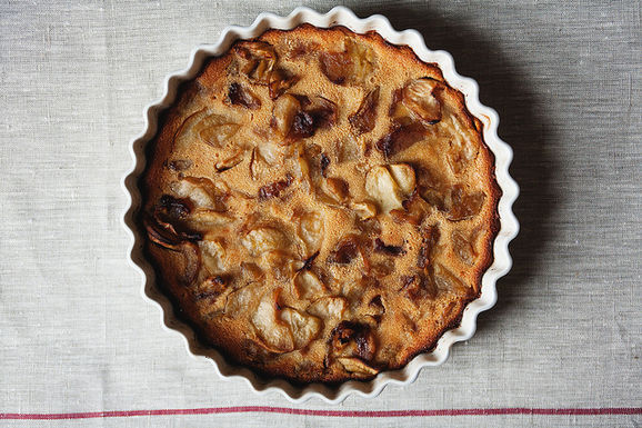 Brown Butter Candied Apple Clafoutis