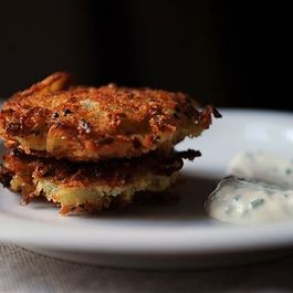 Dinner Tonight: Latkes + Mushroom Barley Soup