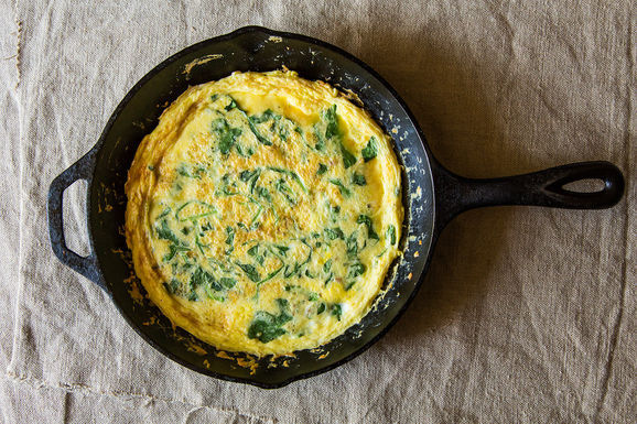 Frittata with Spring Greens