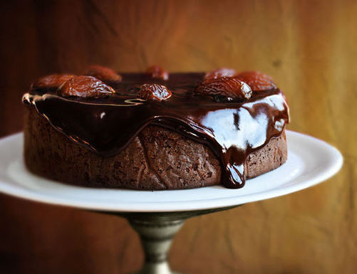 Chocolate-Date Cake with Sticky Toffee Glaze