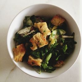 Communal Salads and Homemade Croutons