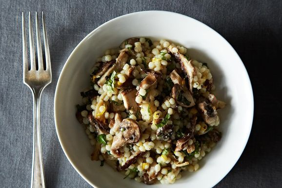 Truffled Israeli Couscous with Meyer Lemon and Basil