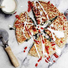 Kale and Corn Quesadillas