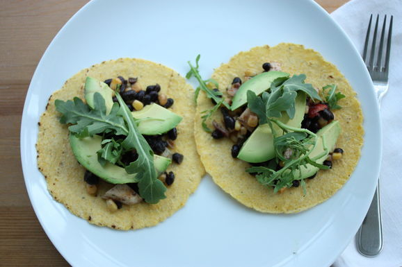 Vegan Black Bean Tostadas