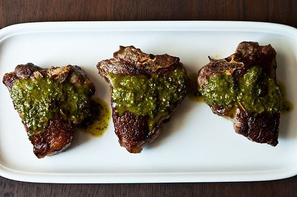 Dinner Tonight: Chimichurri Lamb Chops + Cauliflower Soup