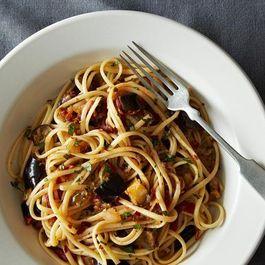 Spicy Vegan Eggplant Pasta