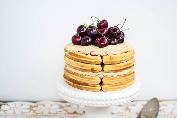 The Easiest Cake You'll Make All Year: Brown Butter Waffle Cake with Sorghum Buttercream