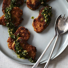 Crisp Pork Cutlets with Citrus Salsa Verde